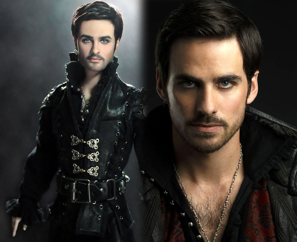 15-Once-Upon-a-Time-Captain-Hook-Colin-O-Donoghue-Noel-Cruz-Hyper-Realistic-Make-up-on-small-Dolls-www-designstack-co