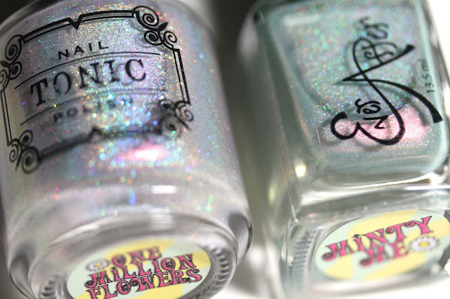 Ever After Tonic Polish Austin Powers Duo One Million Flowers and Minty Me
