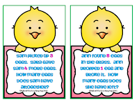 http://theteachingbug36.blogspot.com/2015/04/egg-cellent-addition-number-stories.html