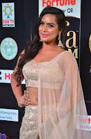 Prajna Actress in backless Cream Choli and transparent saree at IIFA Utsavam Awards 2017 0032.JPG