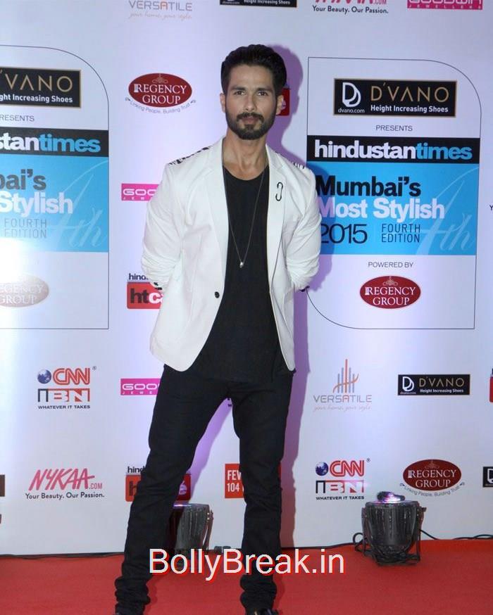 Shahid Kapoor, Mumbai's Most Stylish Awards 2015 Full Photo Gallery