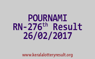 POURNAMI Lottery RN 276 Results 26-2-2017