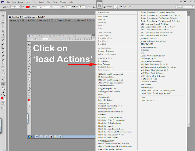 Photoshop actions tutorial step 5