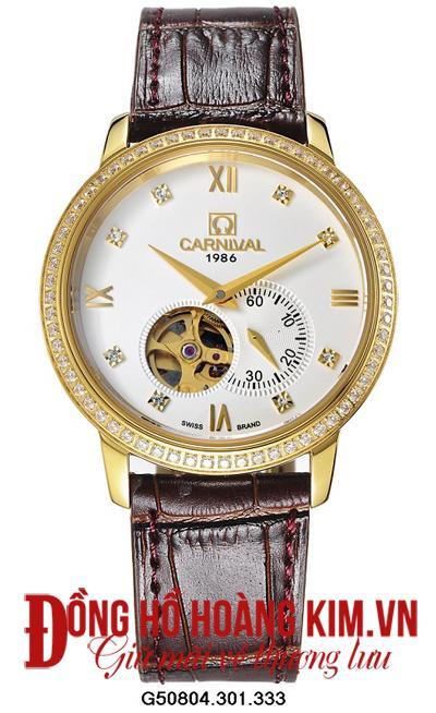 Top 5 mẫu đồng hồ nam Carnival dây da chính hãng cao cấp nên mua