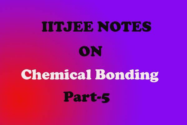 Chemical-Bonding Notes IITJEE