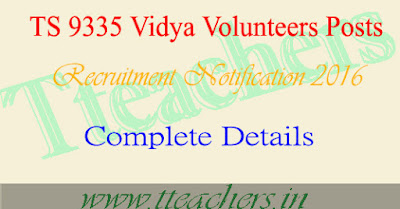 Deo Adilabad vidya volunteers vacancies vvs online apply selection lists