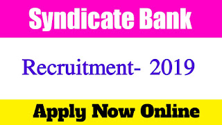 Recruitment of Special Officer In Syndicate Bank