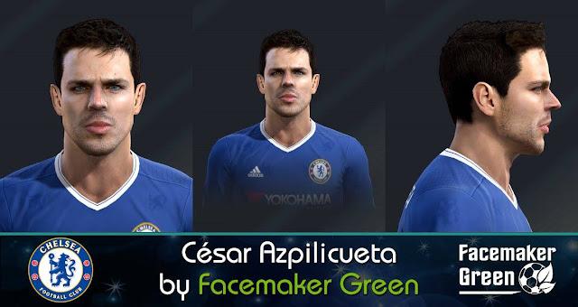 PES 2013 César Azpilicueta Face by Facemaker Green