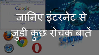 Amazing Facts of Internet in Hindi