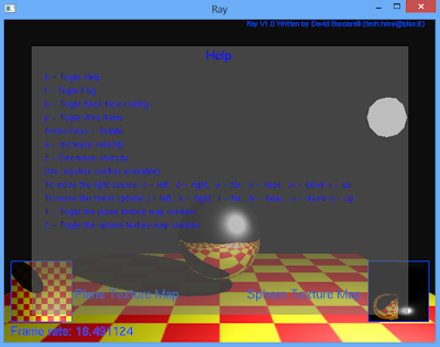 """Ray"" OpenGL Sample Program in Visual Studio"