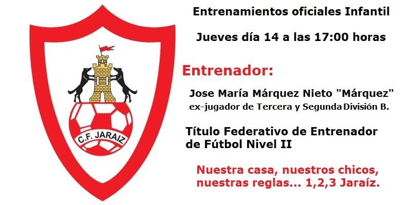 Comienzan los entrenamientos oficiales del equipo infantil del C.F. Jaraíz