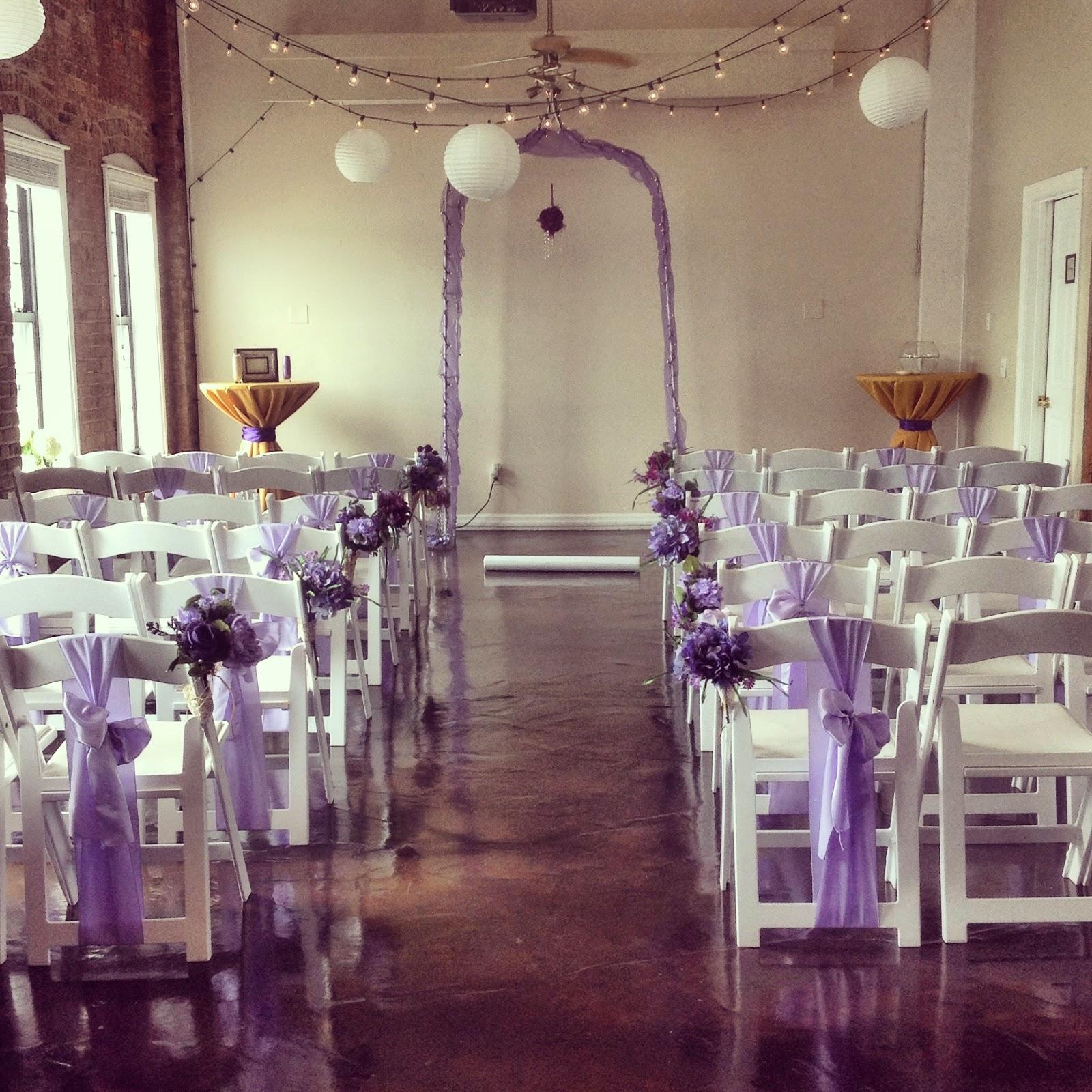 Ceremony And Reception In Same Room: Lindsey & Carl Indoor Wedding Ceremony & Reception