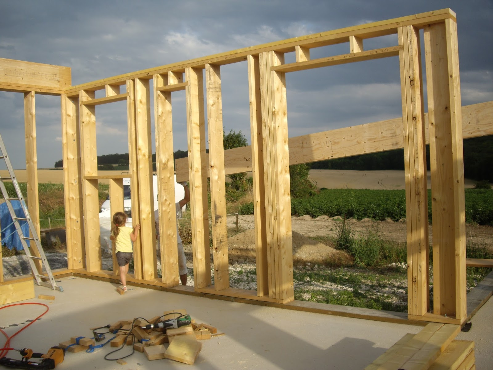 notre auto construction passive maison ossature bois m o b ossature bois jour 13. Black Bedroom Furniture Sets. Home Design Ideas