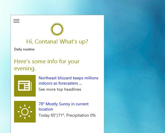 Hey, Cortana feature on Windows 10