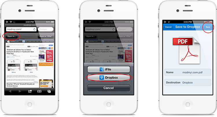 how to view pdf on iphone save amp open safari webpages as pdf files in iphone 4806
