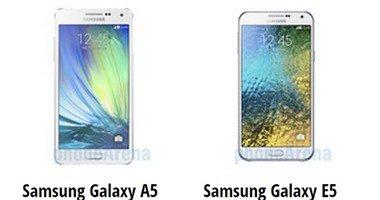 مقارنة بين هاتفى Galaxy A5 و Galaxy E5