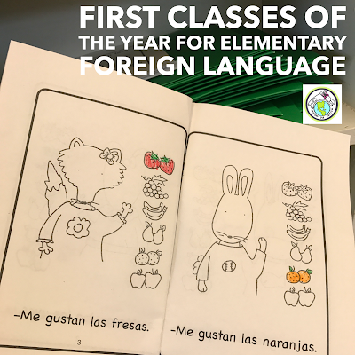 First Classes of School Year for Elementary Foreign Language