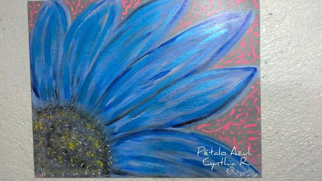 flor azul,