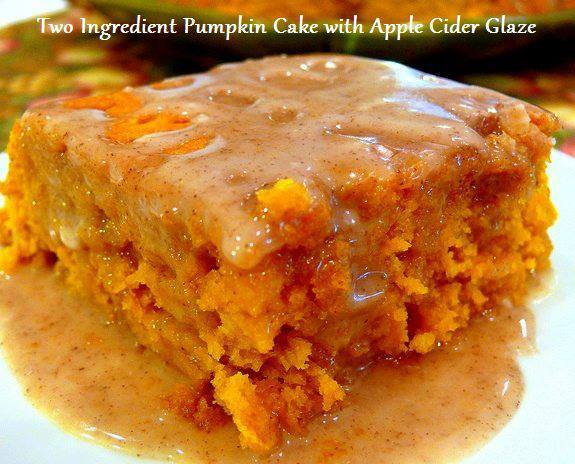 Recipe Using Canned Pumpkin And Yellow Cake Mix