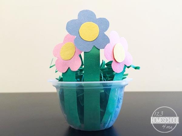 FLOWERS 2 easter basket kids spring craft