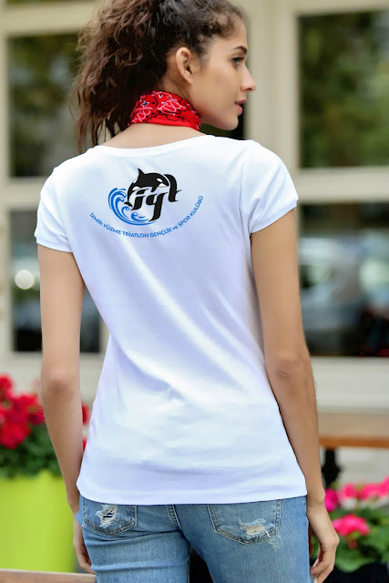 tshirt Yüzme Triatlon Gençlik ve Spor Kulübü Logo Tasarımı