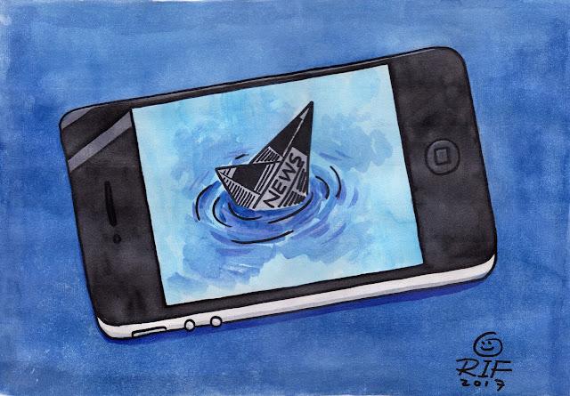 """Media Cetak vs Digital"" karya Abdul Arif."