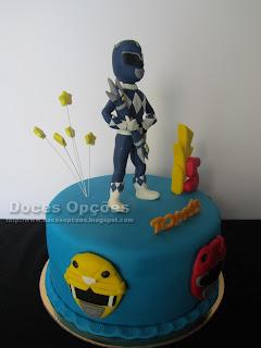 bolo Power Rangers doces opções