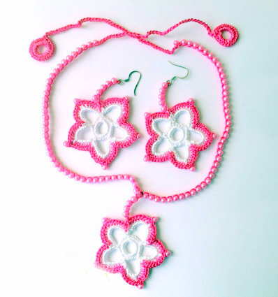 jewellery set crochet pattern crochet jewellery
