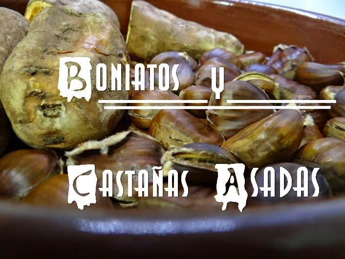 Boniatos y castañas asadas