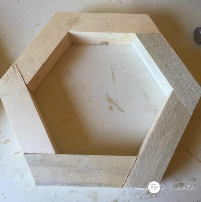 wood hexagon shape