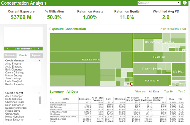 Exposure%2BConcentration%2Bysis%2BScreenshot Qlikview Application Template on data model, access point, set analysis, kpi examples, pivot table,