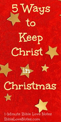 Christmas, Christ-focused Christmas, Jesus is the Reason