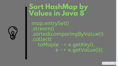 How to sort HashMap by values in Java 8