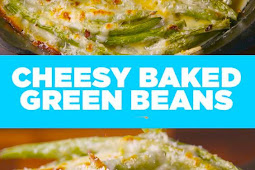 Cheesy Baked Green Beans Recipe