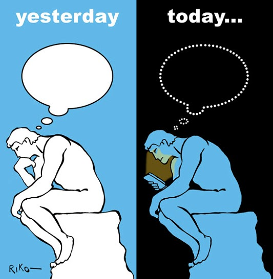 The thinker yesterday and today
