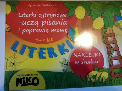 Wydawnictwo NIKO- Literki cytynowe- uczą pisania i poprawią mowę