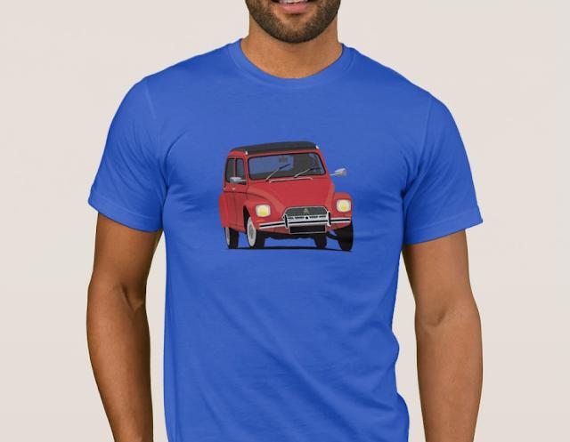 Citroën Dyane 6 klassikko t-paita