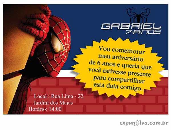 convites aniversario homem aranha 06 - Convites de Aniversário do Homem Aranha