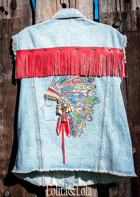 chaleco  boho chic vest denim style indie gypsy