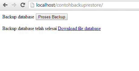 Backup Database MySQL dengan PHP
