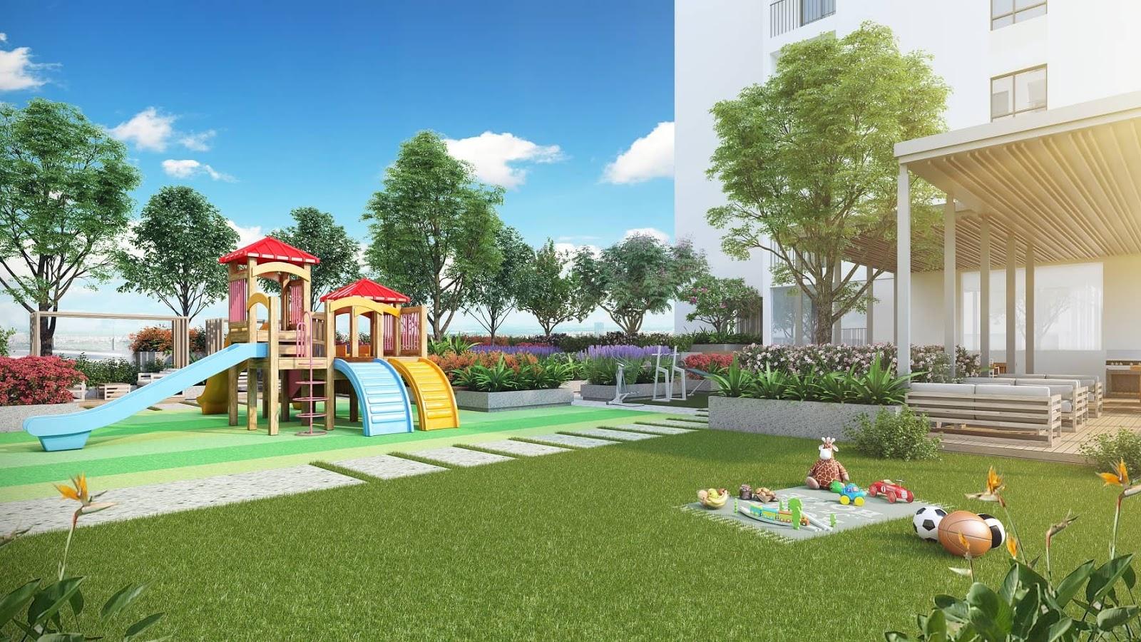 Khu vui chơi trẻ em tại tầng 5 của dự án Kosmo Tây Hồ