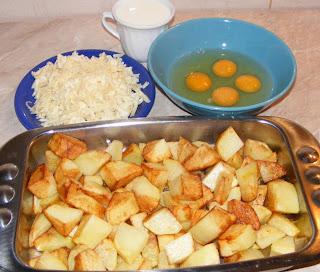 Cartofi gratinati ingrediente reteta,