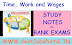 Time, Work and Wages Problems For Bank Exam - Work and wages Concept and Shotcut