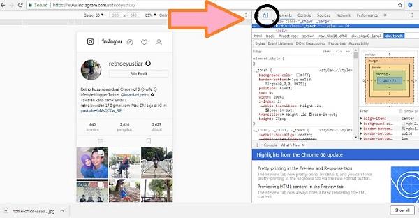 Cara Mengunggah Foto ke  Instagram menggunakan Laptop dan Serba-serbi Instagram lainnya.