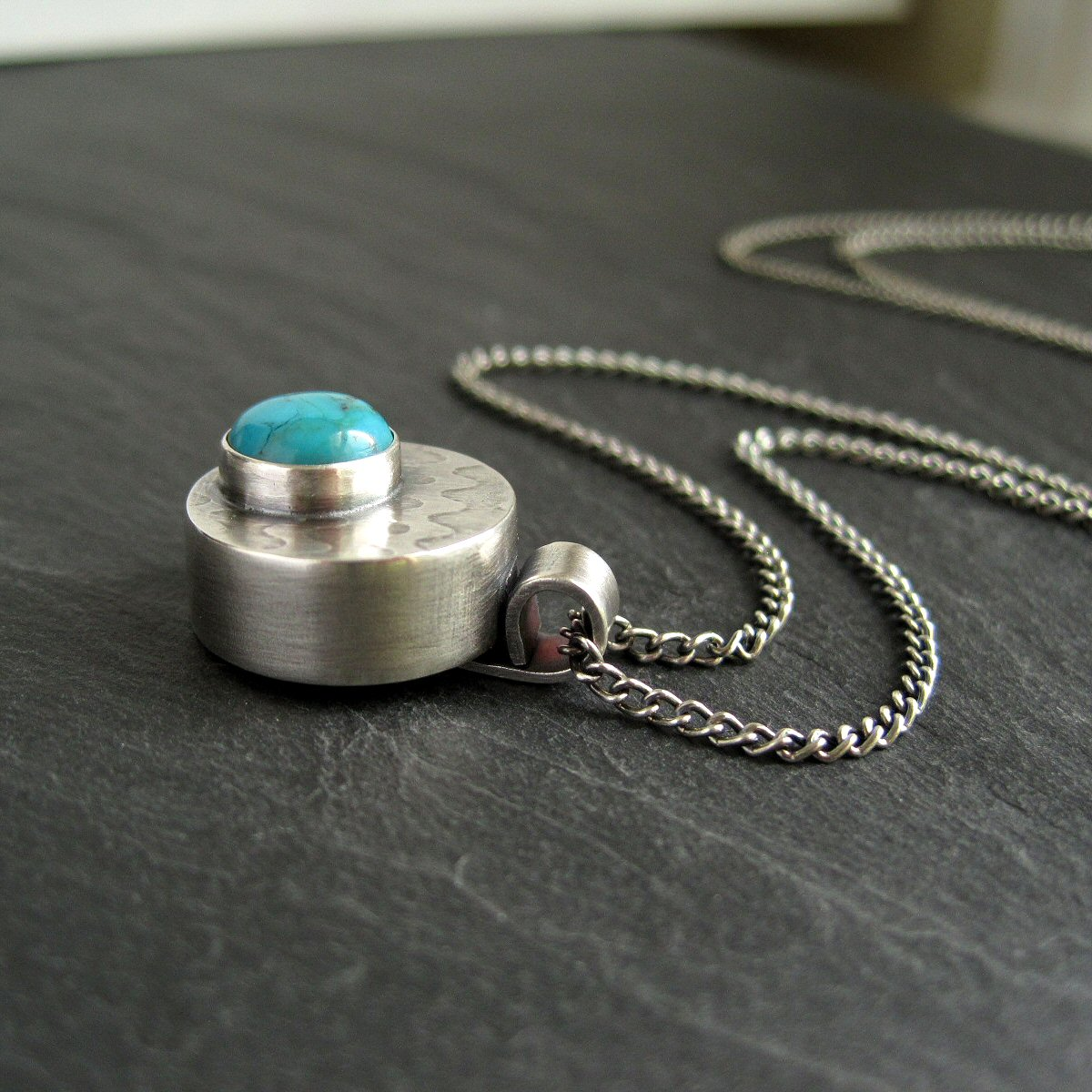 Making A Hollow Form Pendant With Turquoise Cabochon