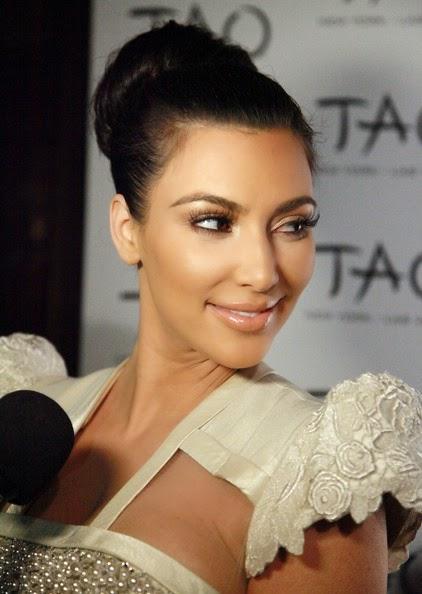 Kim Kardashian updos classic bun hairstyle