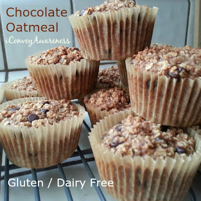 Baked Chocolate Oatmeal in Individual Servings - GF/DF - iConveyAwareness