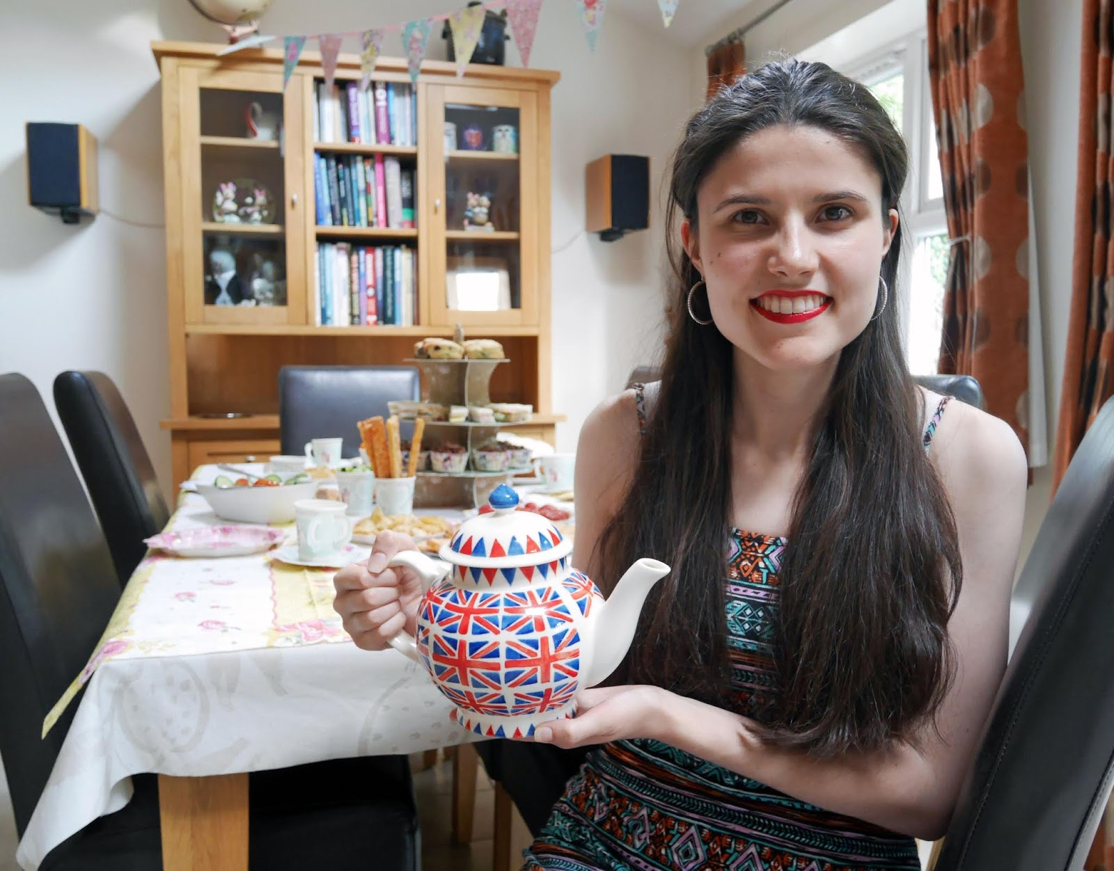 Kat Last sat at the Truly Scrumptious afternoon tea table