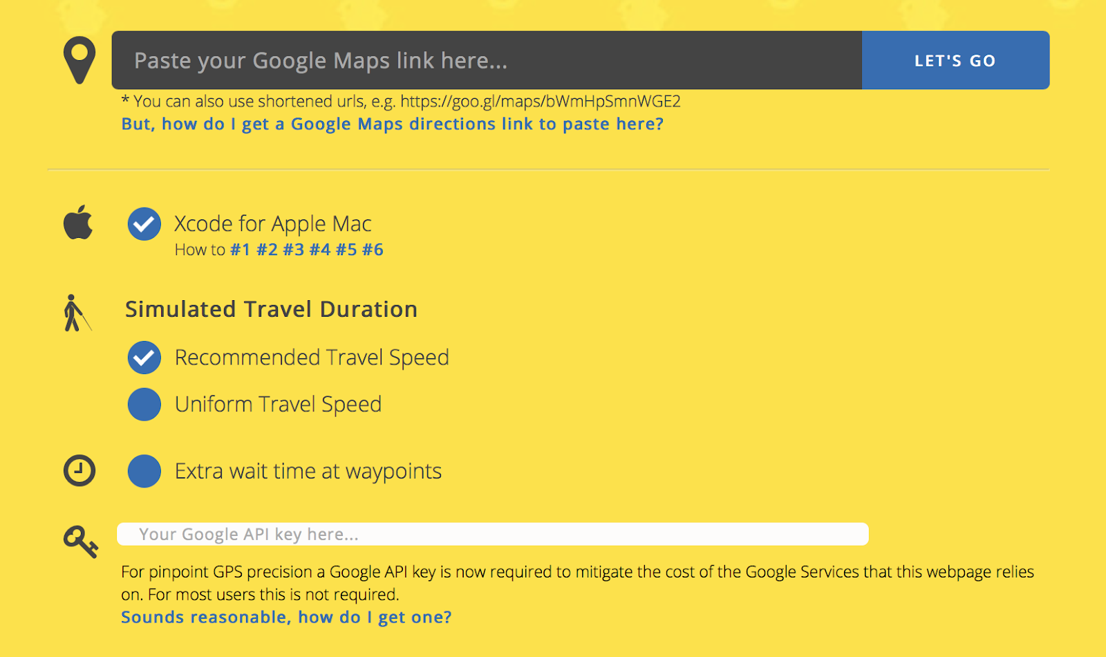 Come convertire un percorso di Google Maps in gpx