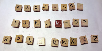 Carving alphabet stamps